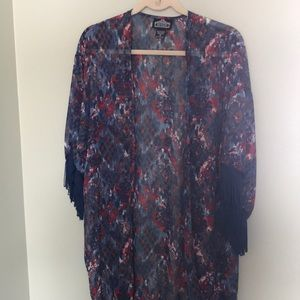 Angie open front tunic top